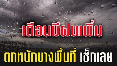 Photo of กรมอุตุเตือ นระวังเจอฝนเพิ่มมีฝนตกหนักบ างแห่ง